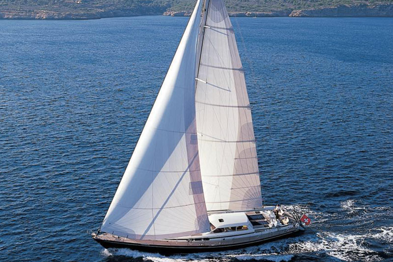 Vivid, Jongert 2700M sailing